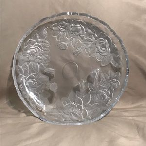 Other - Vintage Etched Glass Circular Platter